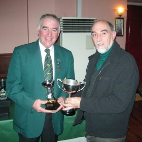 stanley-mccart-presents-ian-pollock-with-the-trophy-for-heaviest-bag-in-the-lough-section